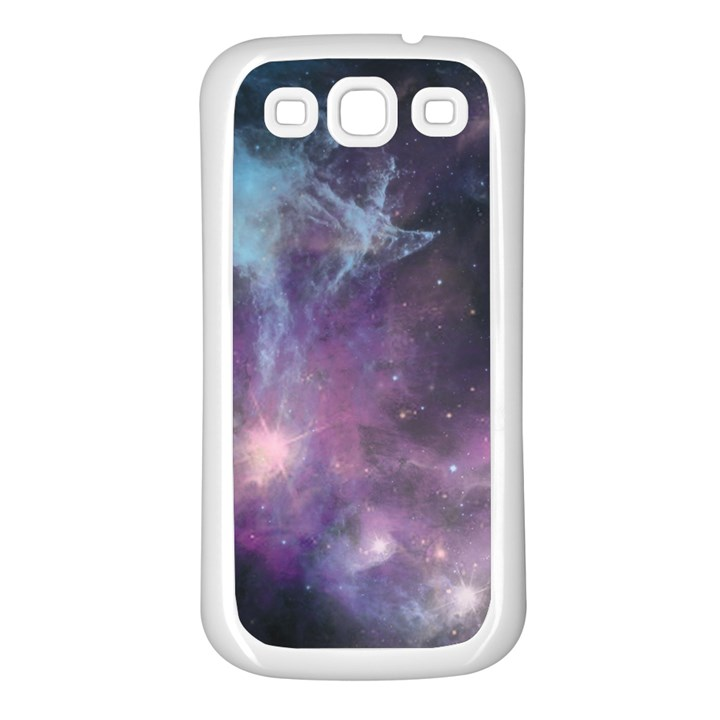 Blue Galaxy  Samsung Galaxy S3 Back Case (White)