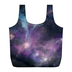 Blue Galaxy  Full Print Recycle Bags (l)