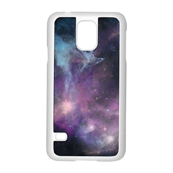 Blue Galaxy  Samsung Galaxy S5 Case (White)
