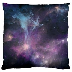 Blue Galaxy  Large Flano Cushion Case (one Side) by DanaeStudio