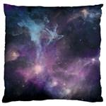 Blue Galaxy  Large Flano Cushion Case (Two Sides) Back