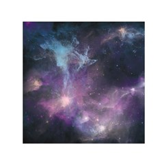 Blue Galaxy  Small Satin Scarf (square)  by DanaeStudio