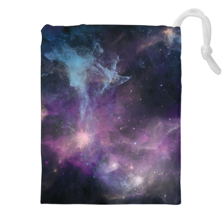 Blue Galaxy  Drawstring Pouches (XXL)