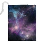 Blue Galaxy  Drawstring Pouches (XXL) Back
