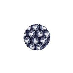 Geometric Deer Retro Pattern 1  Mini Buttons by DanaeStudio