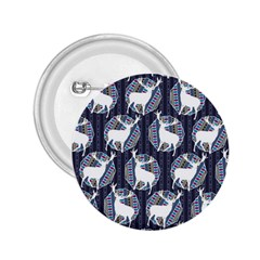Geometric Deer Retro Pattern 2 25  Buttons by DanaeStudio