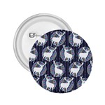 Geometric Deer Retro Pattern 2.25  Buttons Front