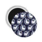 Geometric Deer Retro Pattern 2.25  Magnets