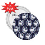 Geometric Deer Retro Pattern 2.25  Buttons (10 pack)