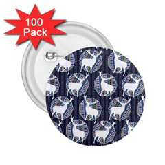 Geometric Deer Retro Pattern 2 25  Buttons (100 Pack)
