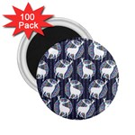 Geometric Deer Retro Pattern 2.25  Magnets (100 pack)