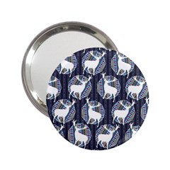Geometric Deer Retro Pattern 2 25  Handbag Mirrors by DanaeStudio