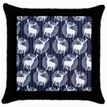 Geometric Deer Retro Pattern Throw Pillow Case (Black)