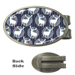 Geometric Deer Retro Pattern Money Clips (Oval)