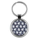 Geometric Deer Retro Pattern Key Chains (Round)