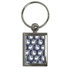 Geometric Deer Retro Pattern Key Chains (rectangle)