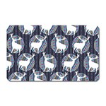 Geometric Deer Retro Pattern Magnet (Rectangular)