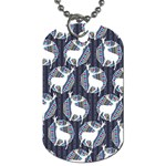 Geometric Deer Retro Pattern Dog Tag (One Side) Front