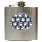 Geometric Deer Retro Pattern Hip Flask (6 oz)