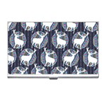 Geometric Deer Retro Pattern Business Card Holders