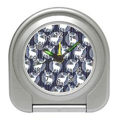 Geometric Deer Retro Pattern Travel Alarm Clocks