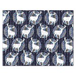 Geometric Deer Retro Pattern Rectangular Jigsaw Puzzl