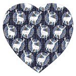 Geometric Deer Retro Pattern Jigsaw Puzzle (Heart) Front