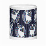 Geometric Deer Retro Pattern Morph Mugs Center