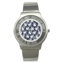 Geometric Deer Retro Pattern Stainless Steel Watch