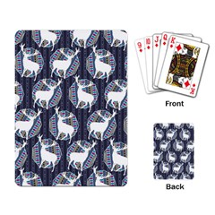 Geometric Deer Retro Pattern Playing Card by DanaeStudio