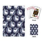 Geometric Deer Retro Pattern Playing Card