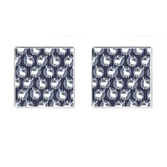 Geometric Deer Retro Pattern Cufflinks (square) by DanaeStudio