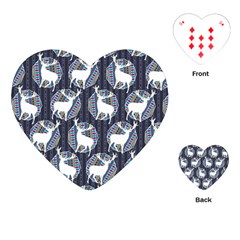 Geometric Deer Retro Pattern Playing Cards (heart)  by DanaeStudio