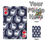Geometric Deer Retro Pattern Playing Cards 54 Designs  Front - Heart10
