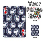 Geometric Deer Retro Pattern Playing Cards 54 Designs  Front - Diamond6