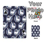 Geometric Deer Retro Pattern Playing Cards 54 Designs  Front - Club2