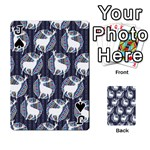 Geometric Deer Retro Pattern Playing Cards 54 Designs  Front - SpadeJ