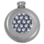 Geometric Deer Retro Pattern Round Hip Flask (5 oz)