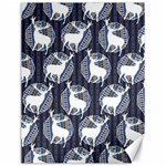 Geometric Deer Retro Pattern Canvas 12  x 16