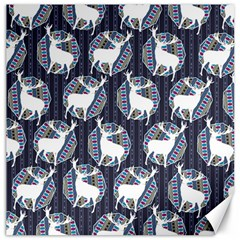 Geometric Deer Retro Pattern Canvas 16  X 16