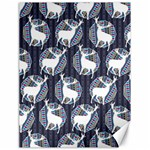 Geometric Deer Retro Pattern Canvas 18  x 24   24 x18 Canvas - 1