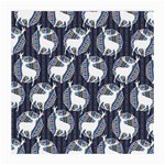 Geometric Deer Retro Pattern Medium Glasses Cloth