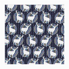 Geometric Deer Retro Pattern Medium Glasses Cloth (2 Side) by DanaeStudio