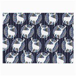 Geometric Deer Retro Pattern Large Glasses Cloth Front