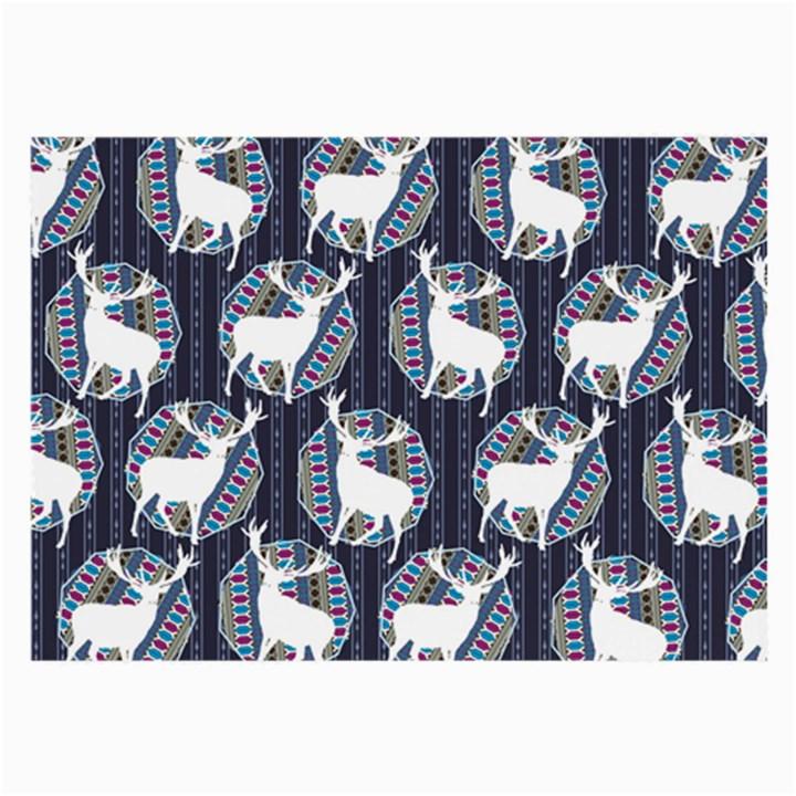 Geometric Deer Retro Pattern Large Glasses Cloth (2-Side)
