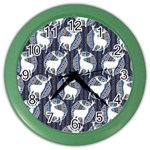 Geometric Deer Retro Pattern Color Wall Clocks