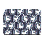 Geometric Deer Retro Pattern Small Doormat