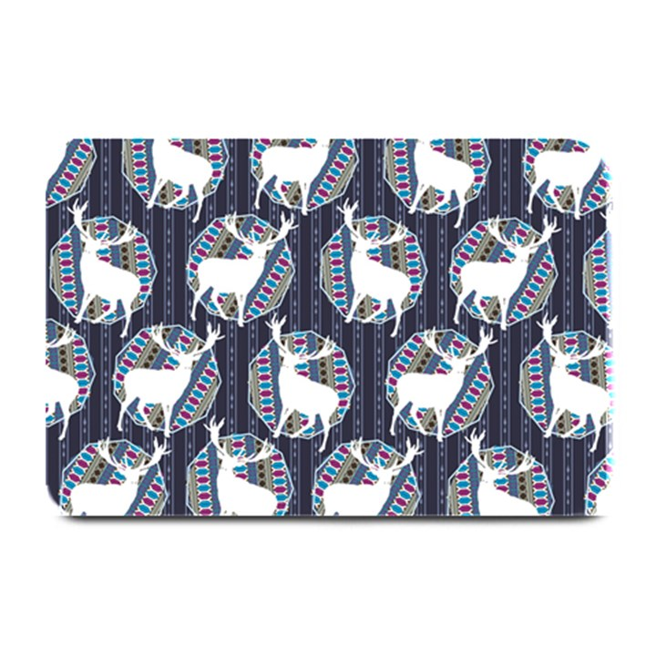 Geometric Deer Retro Pattern Plate Mats