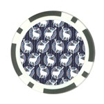 Geometric Deer Retro Pattern Poker Chip Card Guards