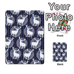 Geometric Deer Retro Pattern Multi Purpose Cards (rectangle)  by DanaeStudio